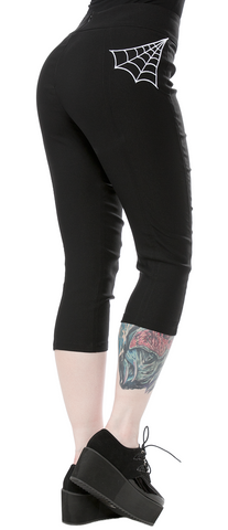 Sourpuss Spiderweb Capris