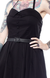 Sourpuss Spooksville Solid Black Dress
