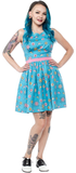 Sourpuss Sputnik Shift Dress Blue