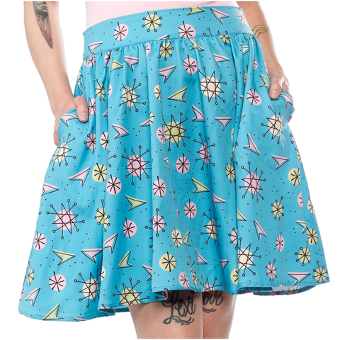 Sourpuss Sputnik Swing Skirt