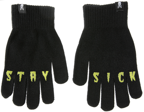 Sourpuss Stay Sick Knit Gloves