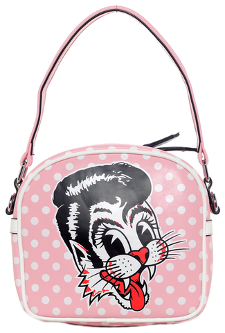 Sourpuss Stray Cats Purse Pink