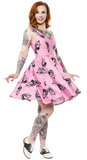 Sourpuss Stray Cats Polka Dot Sweets Dress