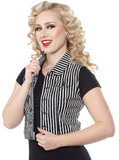 Sourpuss Essential Vest Striped