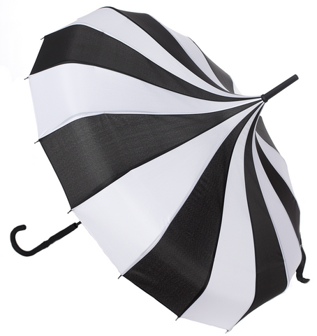Sourpuss Pagoda Umbrella Black / White