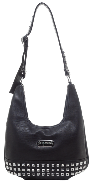Sourpuss Studded Hobo Bag
