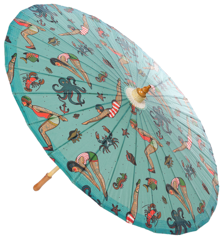 Sourpuss Tattooed Divers Parasol