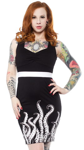 Sourpuss Tentacles Wiggle Dress