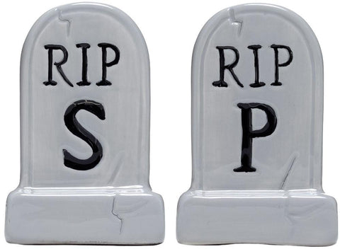 Sourpuss Tombstone Salt & Pepper Shakers