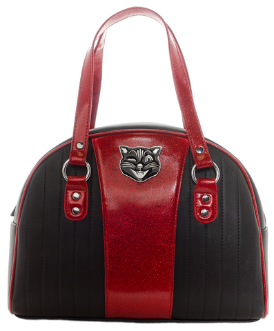 Sourpuss Jinx Tuck and Roll Purse Black / Red