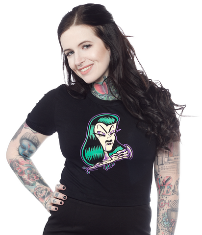 Sourpuss Undead Crop Tee