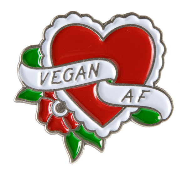 Sourpuss Vegan A.F Enamel Pin