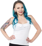 Sourpuss Veronica Top White