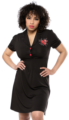 Sourpuss Voodoo Heart Rosie Dress