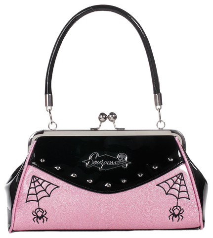 Sourpuss Webbed Widow Purse Black / Pink