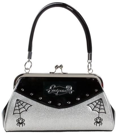 Sourpuss Webbed Widow Purse Black / Silver
