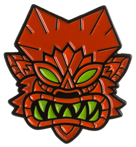 Sourpuss Tiki Wolfman Enamel Pin