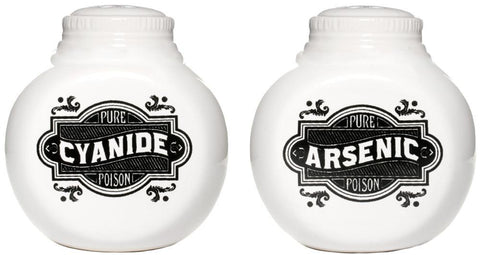 Sourpuss Arsenic And Cyanide Salt And Pepper Shakers