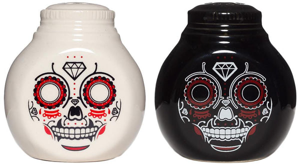 Sourpuss Sugar Skull Salt And Pepper Shakers
