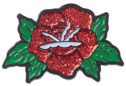 Sourpuss Rose Enamel Pin