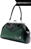 Sourpuss Imperfect Spiderweb Backseat Baby Purse Green