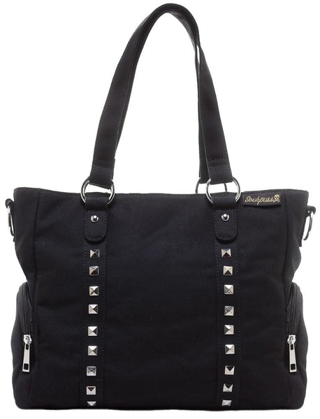 Sourpuss Leda Canvas Stud Purse Black
