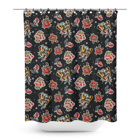 Sourpuss Punk Rock Girl Shower Curtain
