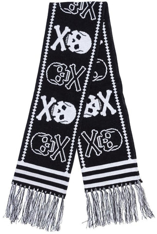 Sourpuss Skulls Knit Scarf