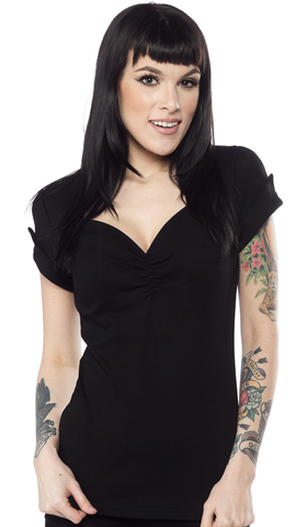 Sourpuss Honey Top Black
