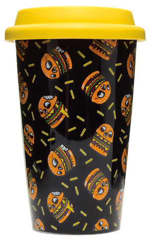 Sourpuss Skull Burger Tumbler