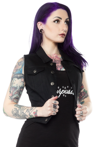 Sourpuss Essential Black Vest
