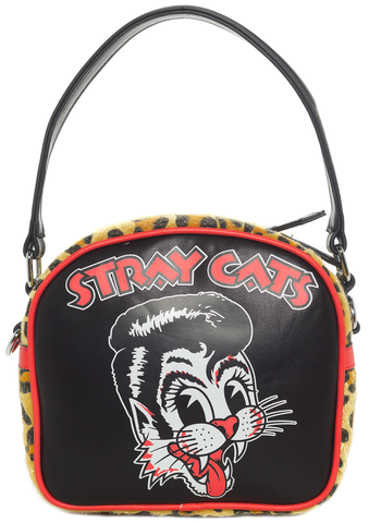 Sourpuss Stray Cats Purse Black
