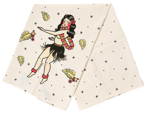 Sourpuss Hula Girl Dish Towel
