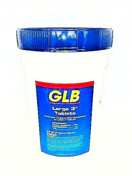 GLB 3 Inch Large Chlorinating Tablets, 50lb Bucket
