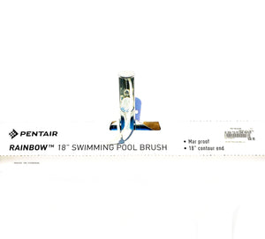 "Pentair R111646 Rainbow #718 18"" Aluminum Back Stainless Steel Bristle Algae Brush"