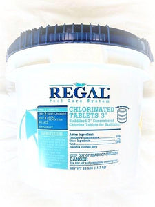 Regal 3 Inch Large Chlorinating Tablets, 25LB Bucket