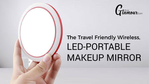 The Travel Friendly Wireless, LED-Portable Makeup Mirror