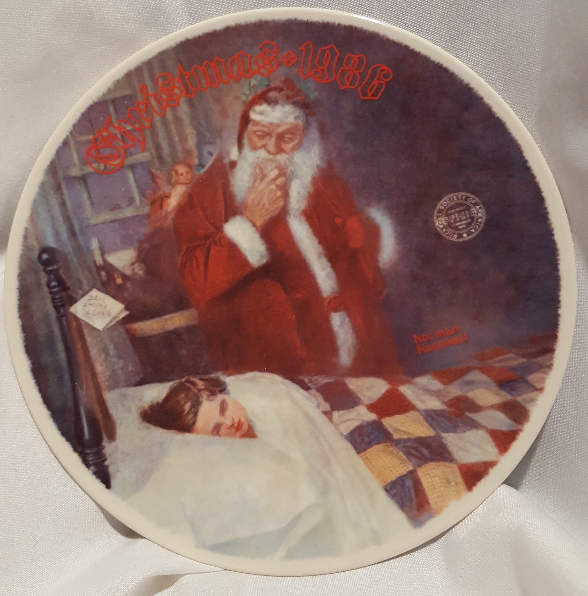 Knowles - Norman Rockwell Christmas 1986 Plate Deer Santy Claus ...