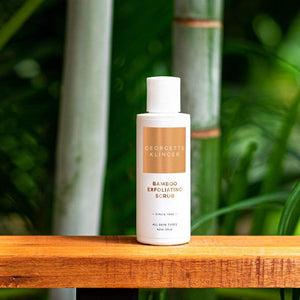 Bamboo Exfoliating Scrub - Gentle Gel Formula, Smoothes Skin Texture