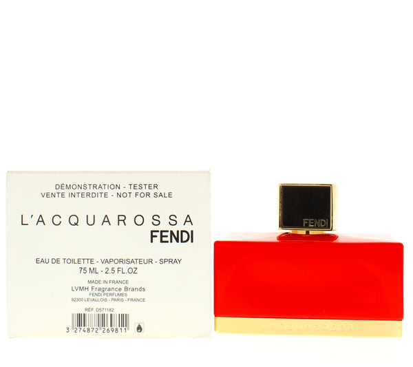 Fendi L'acquarossa 2.5 Oz for Women Edt Tester - Online Shopping Fragrances, Perfumes & Makeup Airdamour.com