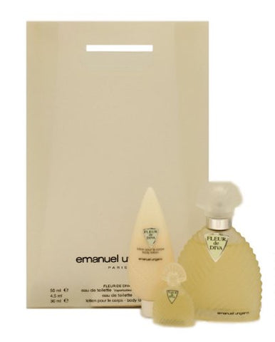 Fleur De Diva By Emanuel Ungaro For Women. Gift Set ( Eau De Toilette Spray 1.7 Oz + Body Lotion 1.0 + Edt Miniature 4.5 Ml - Online Shopping Fragrances, Perfumes & Makeup Airdamour.com