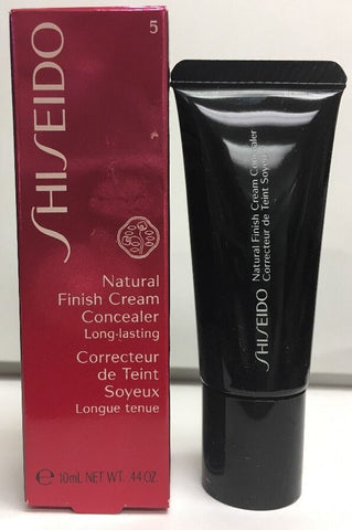 Shiseido Natural Finish Cream Concealer #5 Deep Bronze 0.44oz/10ml NIB