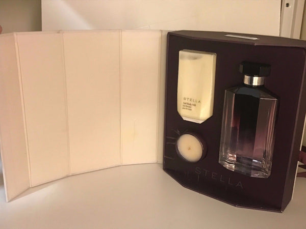 STELLA McCARTNEY STELLA SET 3.3oz EDP SP, 2.5oz BODY MILK & 1.2oz CANDLE VINTAGE - Airdamour.com