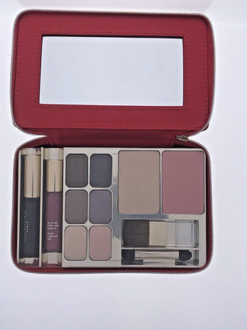 Clarins Make-Up Palette Travel Exclusive Mascara Eyeshadow Blush Powder Compact - Airdamour.com
