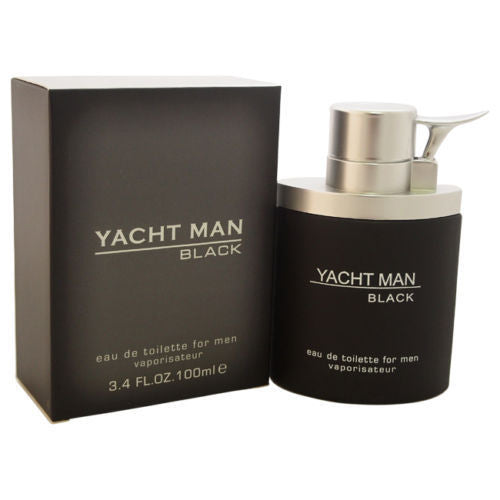 Yacht Man BLACK  by Myrurgia  For Men 3.4 oz Edt Spray - Online Shopping Fragrances, Perfumes & Makeup Airdamour.com