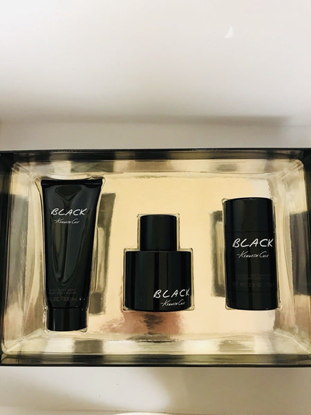 Black by Kenneth Cole 3pc Gift Set for Men 3.4 oz + After Shave Balm + Deodorant - Airdamour.com