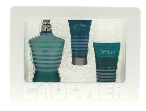 Jean Paul Gaultier Men Set 4.2 Edt Sp + 1.6 Shower Gel + 1 Oz After Shave Balm - Airdamour.com