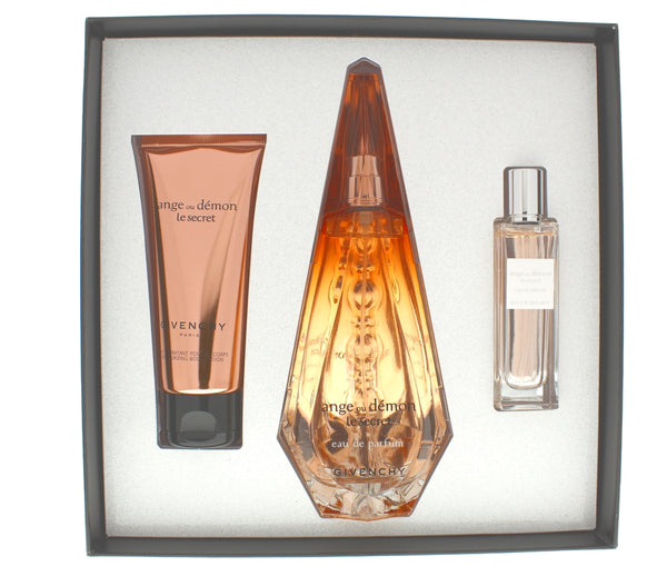 Ange Ou Demon Le Secret Women Set 3.3 Edp + 2.5 Moisturizing Body Lotion + 0.5 Edp - Airdamour.com