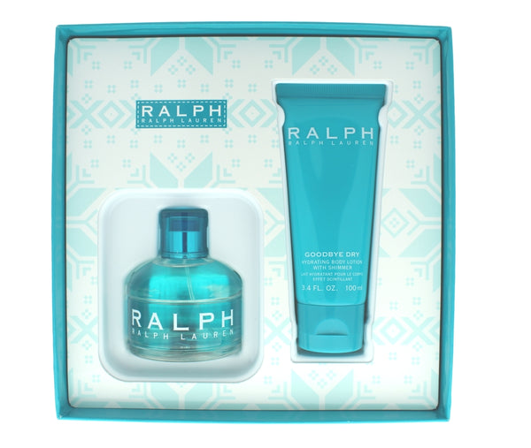 Ralph by Ralph Lauren Women Set 3.4 Edt + 3.4 Goodbye Dry Hydrating Body Lotion With Shimmer