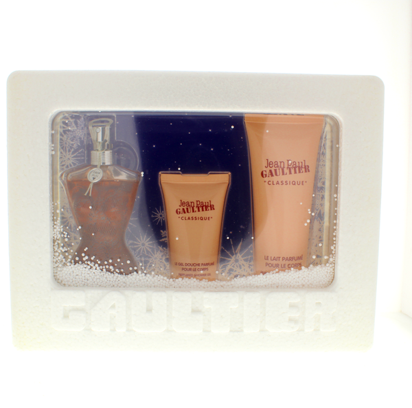 Jean Paul Gaultier Classique Women Set 1.6 Edp Sp + 2.5 Body Lotion + 1 Shower Gel - Airdamour.com